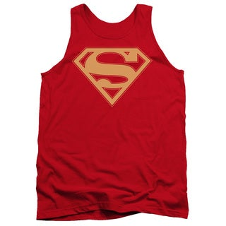 Superman/Red & Gold Shield Adult Tank in Red