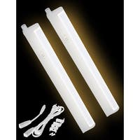 LED Concepts Warm White 22-inch Under-cabinet Linkable T5 Light Bar (Set of 2)
