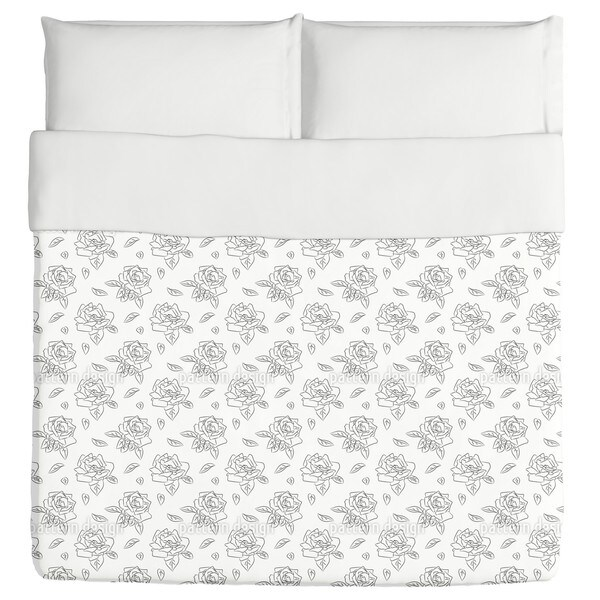Blooming Roses Duvet Cover