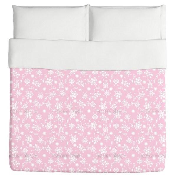 Tingle Tangle Pink Duvet Cover