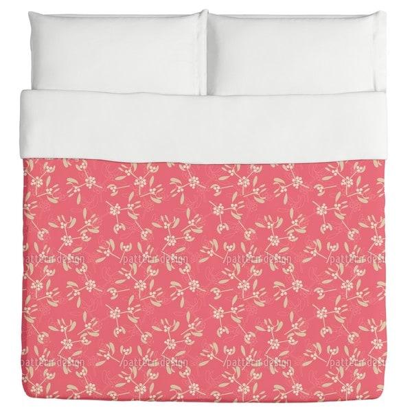 Mistletoe Pink Duvet Cover