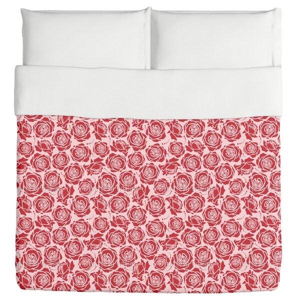 Rose Blossoms Rosey Duvet Cover