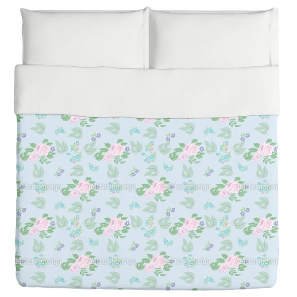 Roses And Florets Duvet Cover
