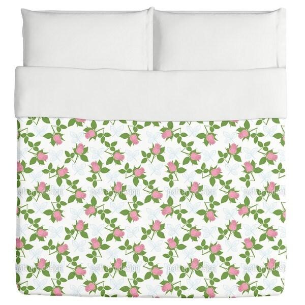 It is Raining Roses Duvet Cover
