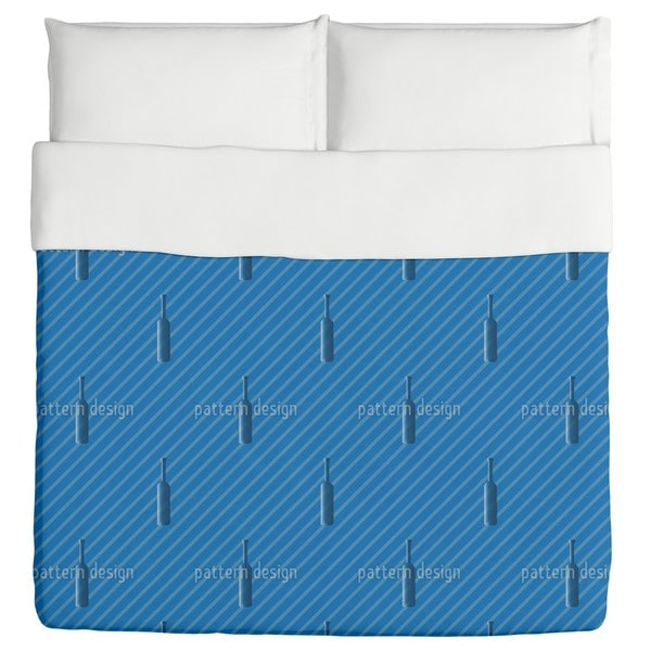 Bottles And Stripes Duvet Cover