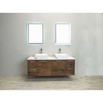 Eviva Luxury 60 Inch Rosewood Bathroom Vanity Cabinet Free Shipping Today 12533654