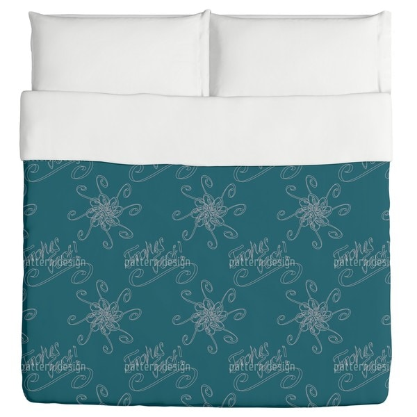 Holy Days Petrol Duvet Cover