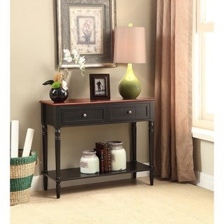 Convenience Concepts French Country Cherry Wooden 2-drawer Hall Table