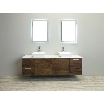 Eviva Luxury 72 Inch Rosewood Bathroom Vanity Cabinet Only