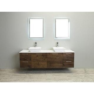 Eviva Luxury 72-inch Rosewood Bathroom Vanity cabinet Only