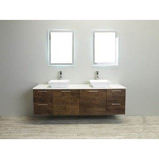 Eviva Luxury 72-inch Rosewood Bathroom Vanity cabinet Only