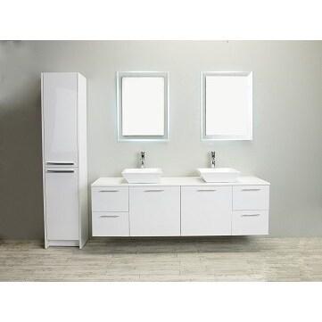 Eviva Luxury 72-inch White Bathroom Vanity cabinet