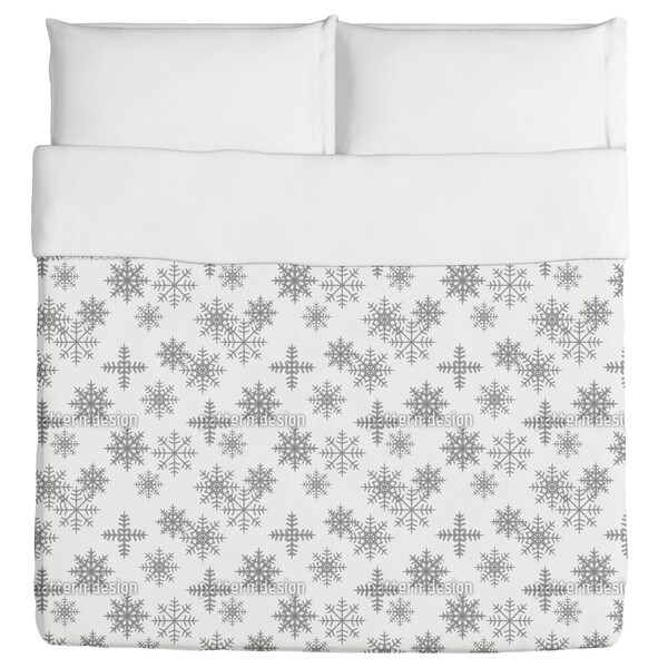 Crystals White Duvet Cover