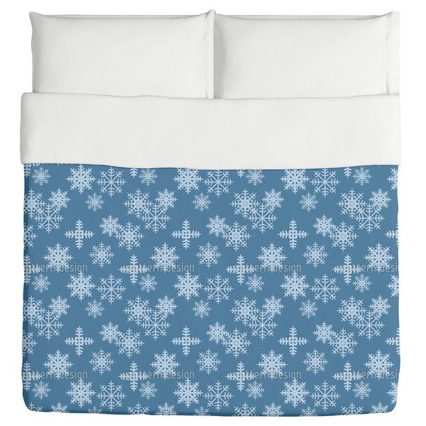 Ice Crystals Blue Duvet Cover