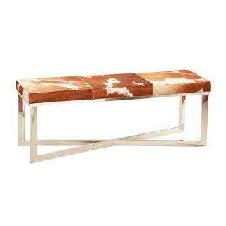 Horizon Hollywood Chrome/Chocolate Stainless Steel/Hide Bench