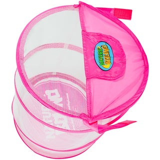 Nature Bound Pink Bug and Butterfly Waterproof Village With Handle and Lid