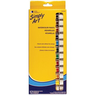 Loew-Cornell 1021094 Assorted Colors Watercolor Paint Set 12 Count