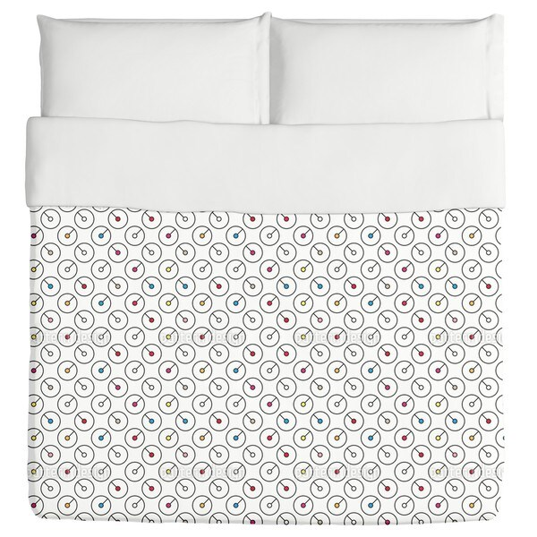 Circles with Hand Duvet Cover