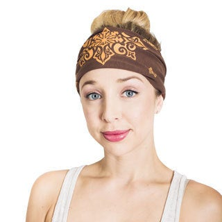Women's Organic Cotton Fleece Lotus Printed Headband (Nepal)