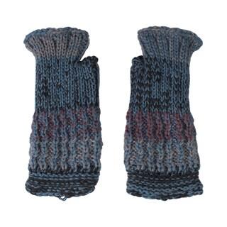 Women's Winter Color Blend Hobo Fingerless Gloves (Nepal)