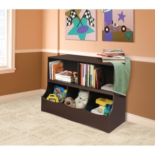 Badger Basket Espresso Multi-bin Storage Cubby