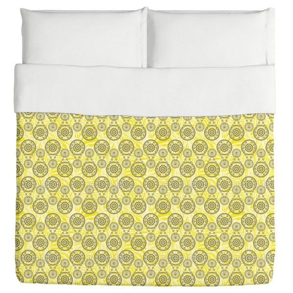 Mehndi Yellow Duvet Cover