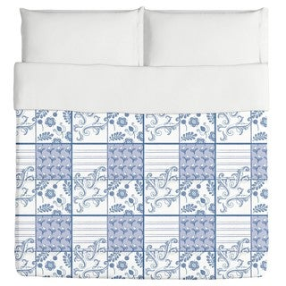Painted Art Blue Duvet Cover (3 options available)