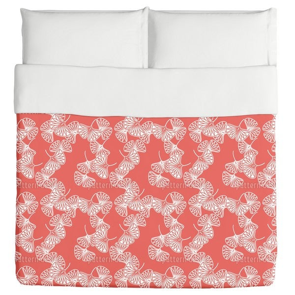 Ginkgo Red Duvet Cover