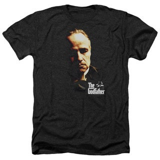 Godfather/Don Vito Adult Heather T-Shirt in Black