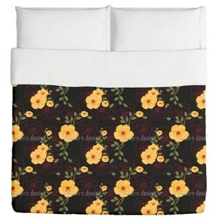 Yellow Rambler Roses Duvet