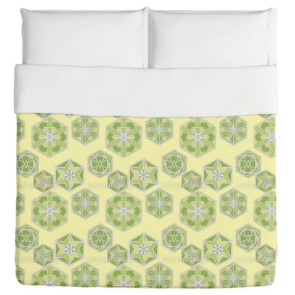 Green Morocco Duvet Cover