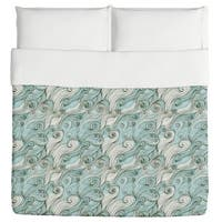 God of the Ocean Duvet Cover