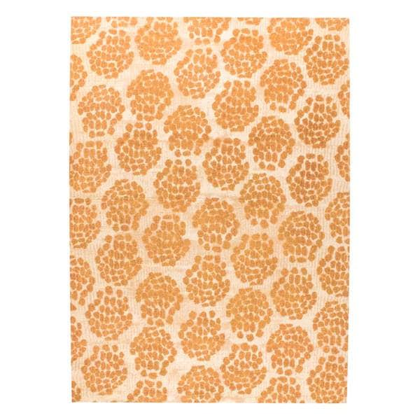 M.A.Trading Hand-woven Midland Beige/Orange (5'x8') - 5' x 8'
