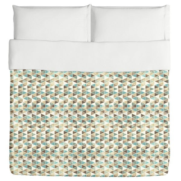 Triangles Mosaic Duvet Cover
