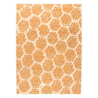 M.A.Trading Hand-woven Midland Beige/Orange (8'x10')