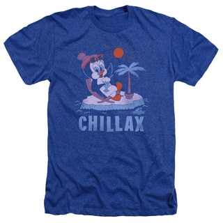 Chilly Willy/Chillax Adult Heather T-Shirt in Royal Blue