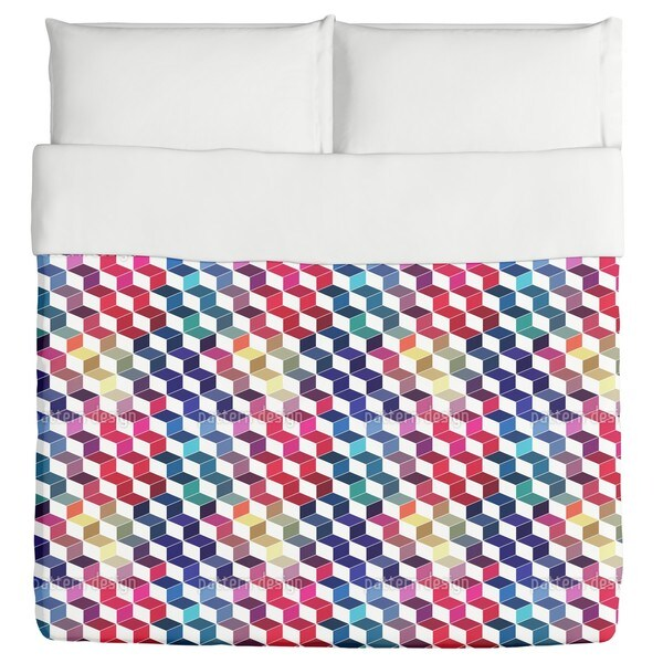 Dimension of Stacked Squares Duvet Cover