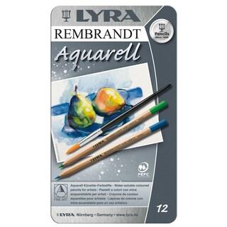 Lyra 2011120 Rembrandt Aquarell Artists Colored Pencils Assorted 12 Count