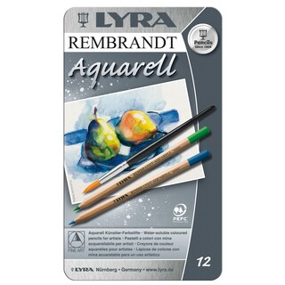 Lyra 2011120 Rembrandt Aquarell Artists Colored Pencils Assorted 12 Count