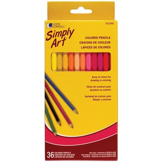 Loew-Cornell 1021089 Assorted Colored Pencils 36 Count