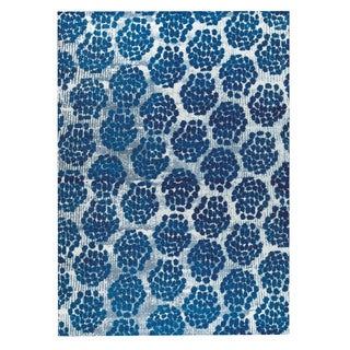 M.A.Trading Hand-woven Midland Blue (5'x8')