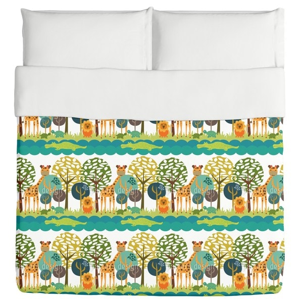 African Safari Club Duvet Cover