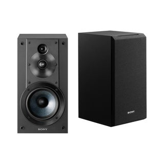 Sony SSCS5 3-Way 3-Driver Bookshelf Speaker System (Black)