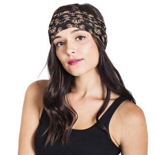 Handmade Women's Organic Cotton Dorge Printed Active Headband (Nepal)