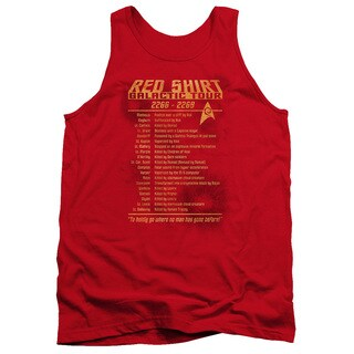 Star Trek/Red Shirt Tour Adult Tank in Red
