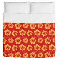 Hibiscus Greetings From Hawaii Duvet Cover