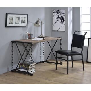 Jodie Black PU and Metal Chair