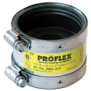 "Fernco P3001-215 2"" Proflex Reducing Coupling For Cast Iron, Plastic & Steel"