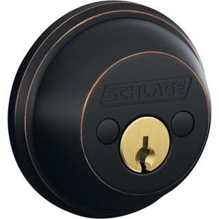 Schlage B62NV716 Aged Bronze Double Cylinder Deadbolt|https://ak1.ostkcdn.com/images/products/12535306/P19338985.jpg?impolicy=medium