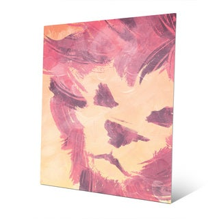 Pink Lion Multicolored Metal Wall Art